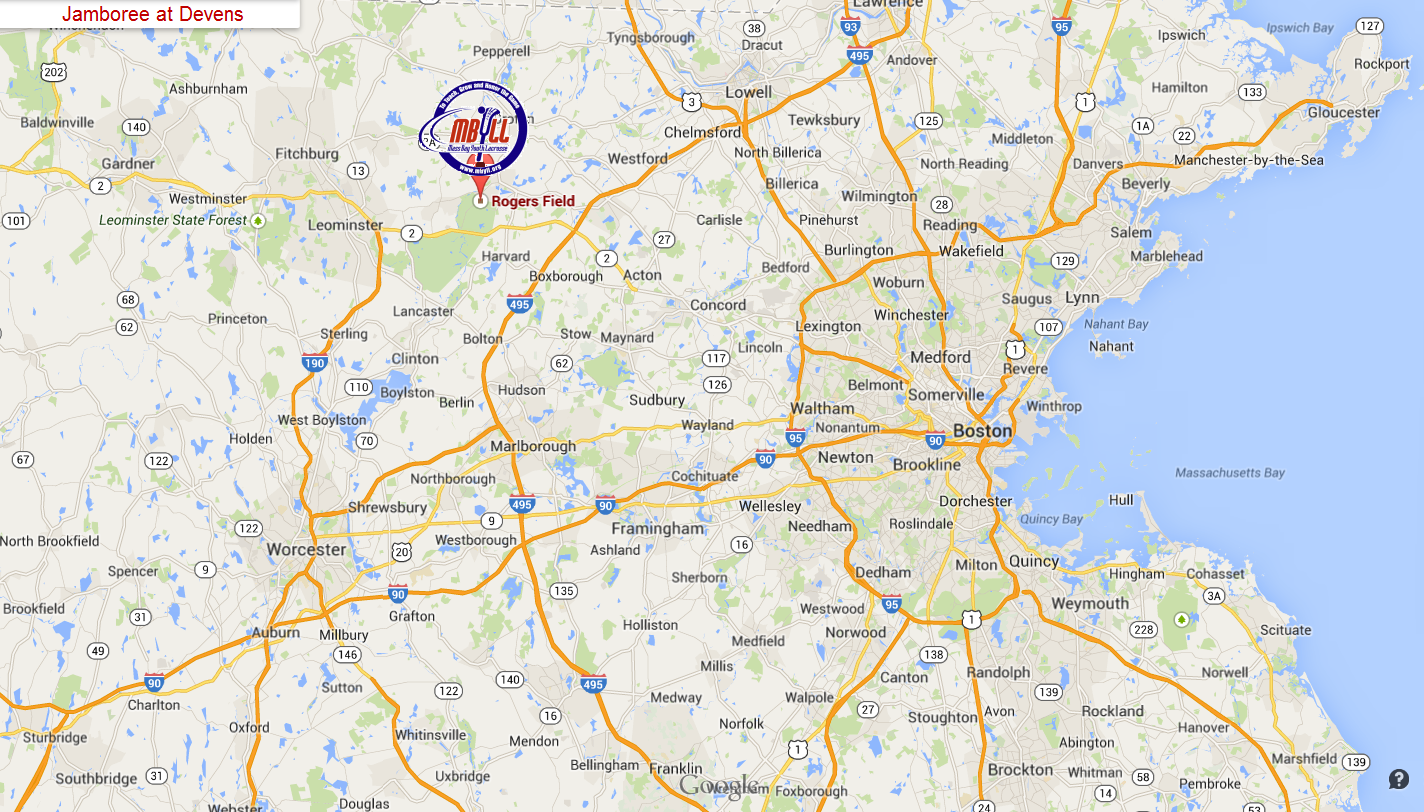 Directions to Devens | M Bay Youth Lacrosse League on