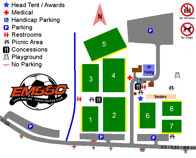 Field Maps East Moline Silvis Soccer Club - Maps soccer
