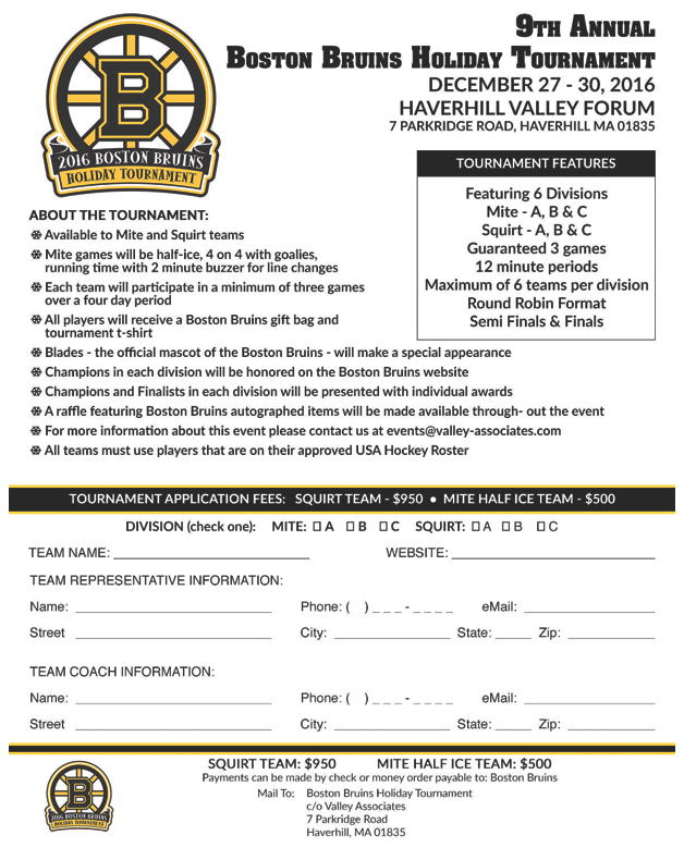 Tournament Information | Cape Ann Youth Hockey