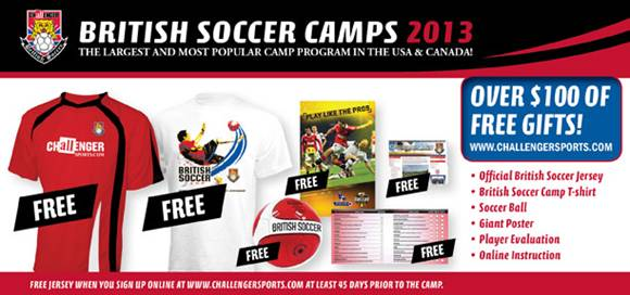 8ee09e252 We are pleased to announce a year of soccer camp partnership with  Challenger Sports, providers of the USA's most popular soccer camp program  – British ...