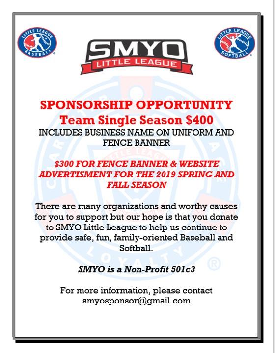 Sponsorship | Southern Maryland Youth Organization