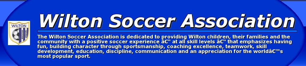 Wilton Soccer Association, Soccer, Goal, Area Field