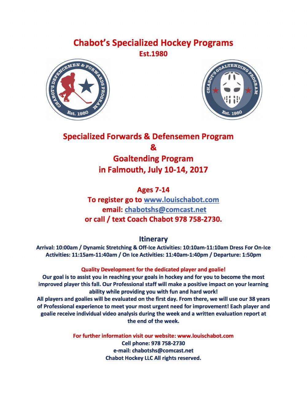 Cape Cod Canal Youth Hockey